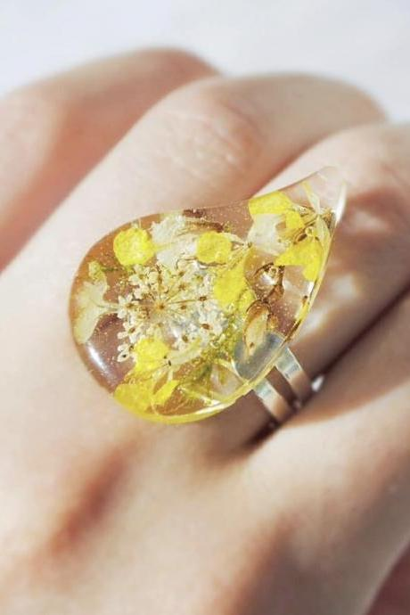 Bright drop resin ring